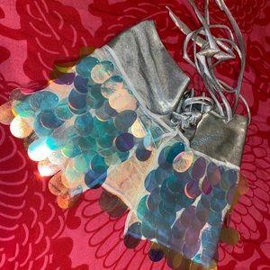 Freedom Rave Wear Heavenly Sequin Mini Skirt 💎💙